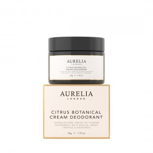 50g Citrus Botanical Cream Deodorant on top of box