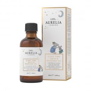 50ml Sleep Time Bath & Massage Oil next to box