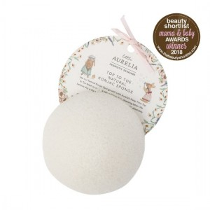 Top to Toe Natural Konjac Sponge in front of tag